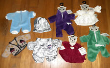 Beanie outfitters and other clothes for beanbag toys or chubby baby dolls