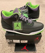 Nike Air Jordan Retro 3 III Joker Size 15 Black Electric Green Purple New DS