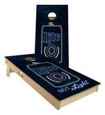 Miller Lite Neon Cornhole Boards - 2 Sizes + Many Options Available