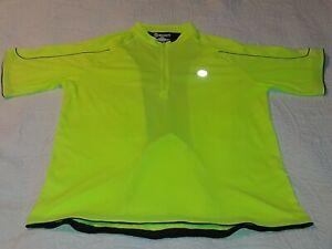 Canari Cycling Jersey Hi-Vis Yellow, Men's XXL, Bike Neon Hi Viz 2XL