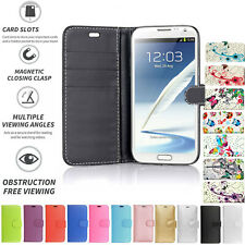Samsung Galaxy Note 2 N7100 N7105 Book Pouch Cover Case Wallet Leather Phone