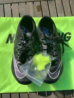 "NIKE ZOOM ""SUPERFLY ELITE"" TRACK SPIKES ""BLACK/INDIGO"".MEN size (8.5) 835996-002"