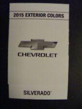 2015 CHEVROLET SILVERADO DEALERSHIP EXTERIOR COLOR CHART NEW