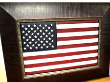 American flag with Leather. High Quality Dark Walnut UNIQUE Gift  Idea.