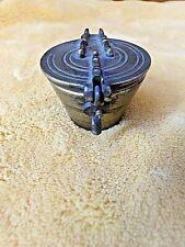 Ancienne pile en bronze de poids à godet-7 éléments-360 grammes-pile Charlemagne