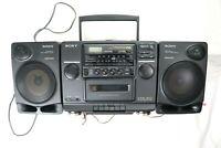 **READ**  Sony CFD-510 AM/FM Radio CD Cassette Not Working Boombox 2 way Speaker