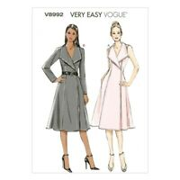 Vogue Sewing Pattern V8992 Women's Lined Wrap Dress
