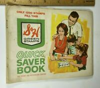 Sperry and Hutchinson Green Stamps Quick Saver Book Vintage