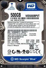 Western Digital WD5000BPVT-35HXZT1 500GB DCM: HBOT2BB