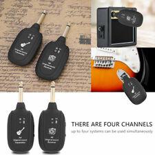 UHF Guitar Wireless System Transmitter Receiver Built-in Battery Equipment