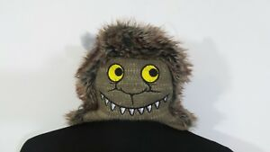 """*Where The Wild Things Are* Toddler """"12-24 Mth"""" Fuzzy Furry Monster Hat"""