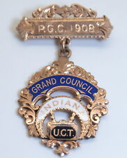 """Heavy 10K Gold GRAND COUNCIL """"UCT"""" United Commercial Travelers Lapel Pin Indiana"""