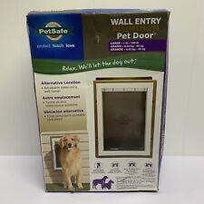 PetSafe Wall Entry Pet Door w/ Telescoping Tunnel, Medium Door for Dogs Large