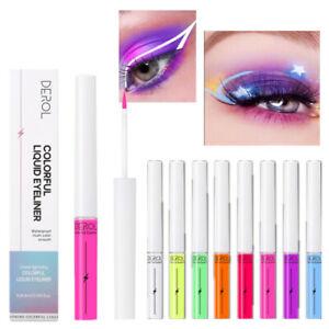 Fluorescent Liquid Eyeliner Set Waterproof Rainbow Neon Eyeliner Makeup Creative