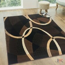 Abstract Contemporary Modern Rug 5x7 Oval and Circle Design 8x10 Floor Area Rug