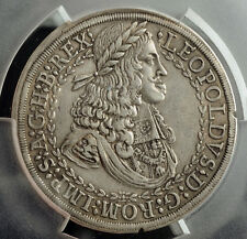 "1657, Emperor Leopold I ""the Hogmouth"". Silver 2 Thaler (Double!) Coin. PCGS VF+"