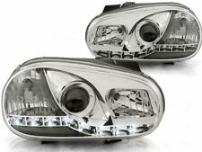 LED FARI ANTERIORI LPVW85 VW GOLF IV 1997 1998 1999 2000 2001 2002 2003 CHROME