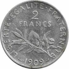FRANCE 2 FRANCS SEMEUSE 1909 TB+
