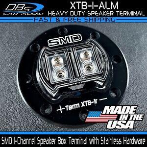 Steve Meade SMD XTB 1 Channel Aluminum Heavy Duty Subwoofer Speaker Box Terminal