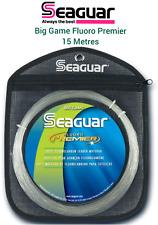 Seaguar BIG GAME Fluoro PREMIER Fluorocarbon LEADER Line 15m Coils 85lbs-220lbs