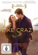 LIKE CRAZY   DVD NEU   FELICITY JONES/JENNIFER LAWRENCE/ANTON YELCHIN/+