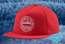 New THE NORTH FACE USA Twill Mens Red United States Snapback Hat