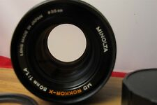 Minolta 50mm F/1.4 camera lens Rokkor-X MD mount Clean
