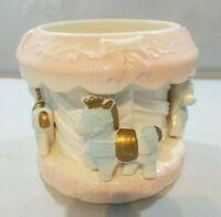 Vintage Rubens Carousel Horse Pottery Ceramic Planter Vase Baby Nursery Shower