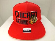 Chicago Blackhawks NHL Retro  Snapback RED  Hat New By Reebok