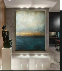 """LL389 Large Hand-painted abstract oil painting on canvas Home Wall Decor art 48"""""""