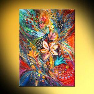 Passion of Flowering: contemporary judaica symbolism art print Elena Kotliarker