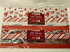 2 Christmas Santa Gift Tissue Paper 40 Sheets