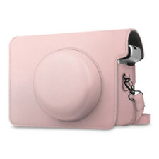 For Fujifilm Instax Wide 300 Instant Camera Case Bag Cover with Strap- Rose Gold