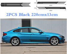 2X Self-adhesive Black Waterproof Car Door Side Stripe Waistline Decal Sticker