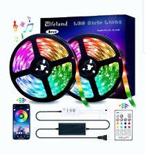 Elfeland LED Strip Lights 32.8FT/10M 300 LEDs IP65 5050 RGB Light Strips Music