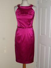 Austin Reed Pink Satin Pencil Dress Sz UK 8 Wedding Outfit Evening Party Prom