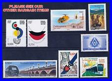 FRANCE 2004//07 x8 STAMPS MNH 6,84 Euro FACE VALUE / TRAINS, HELICOPTERS, BRIDGE