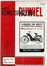 Het gemotoriseerde rijwiel 7-1955 - Dutch moped magazin - D.M.F. NESTOR