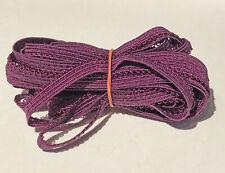"Elastic 1/4"" Wide Purple choose Length Soft Stretch Mask Crafts picot edge"