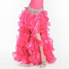 New Sexy Gorgeous Belly Dancing Skirt Slit Wavy Skirt Ra-Ra Skirt/Dress 10 color