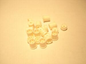 10 PAIR H.O. SCALE REPRO PLASTIC RIM SETS AURORA G+/TURBO/SRT/SG+/AFX WHITE