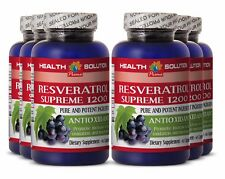 Anti-Aging Resveratrol Supreme 1200mg  Antioxidant Anti-Inflammatory (6 Bottles)