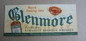 Old Vintage c.1930's - GLENMORE Bourbon WHISKEY - Advertising BLOTTER - KY.