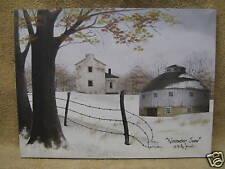 November Snow Canvas Picture Decor Paint House Farm