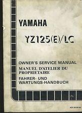 (22B) REVUE TECHNIQUE MANUEL ATELIER MOTO YAMAHA YZ 125 (E) / LC