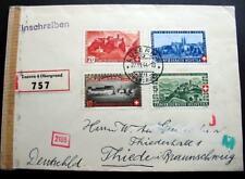 SWITZERLAND Registr *BUNDESFEIER 1944 Complt SET Censor