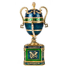 Amphora Russian Faberge Egg Replica Jewelry Box Made in Russia Gift Box