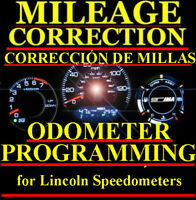 Lincoln Speedometer Instrument Gauge Cluster Mileage Odometer PROGRAMMING