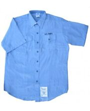 Insta Slim Men's Shirt with US Navy Embroidery-Blue
