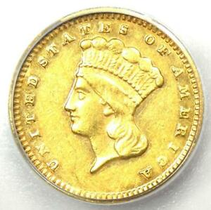 1874 Indian Gold Dollar (G$1 Coin) - Certified ICG AU50 - Rare Coin!